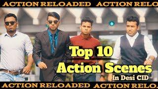Top 10 action scenes | in Desi CID | দেশী CID বাংলা | Family Entertainment Bd | Comedy Video Online