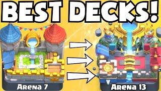 Clash Royale BEST ARENA 7 - ARENA 13 DECKS   BEST UNDEFEATED DECK ATTACK STRATEGY TIPS F2P PLAYERS
