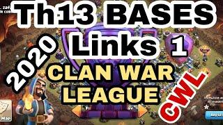 CWL FEBRUARY 2020 TH13 WAR BASES !! with links - Clash of clans