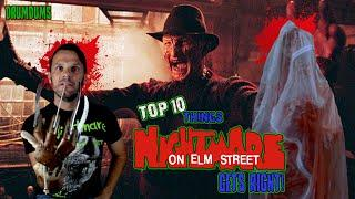 Top 10 Things The NIGHTMARE on ELM STREET Franchise Gets Right!