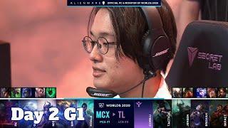 MCX vs TL | Day 2 Group A S10 LoL Worlds 2020 | Machi Esports vs Team Liquid - Groups full game