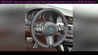 Deals MEWANT Genuine Leather Hand Sew Steering Wheel Cover for BMW M Sport F30 F31 F34 F10 F11 F07