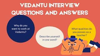 Vedantu interview question and answer/My Personal Experience /How to clear vedantu interview