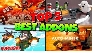 TOP 5 Best Addons/Mods For Minecraft Pocket Edition Survival | MCPE | Addons/Mods
