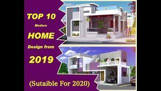 Modern home designs || top 10 latest 2019 || Indian home design ideas