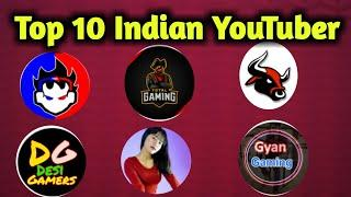 Top 10 best Indian YouTuber in free fire // Hunter Gamers