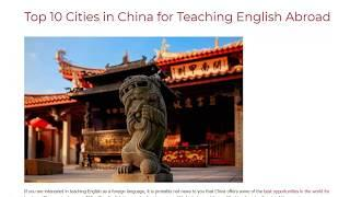 Top 10 Cities in China for Teaching English Abroad | ITTT TEFL BLOG