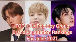 TOP 10 K-Pop Boy Group Brand Reputation Rankings for June 2021