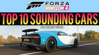 Forza Horizon 4 - TOP 10 BEST CAR SOUNDS! Exhaust Sounds, Tunnel Pops & Bangs