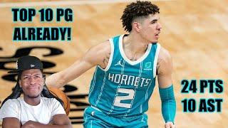 *LAMELO BALL IS ALREADY A TOP 10 POINT GUARD IN THE NBA!!* 24 POINTS & 10 AST! 2021