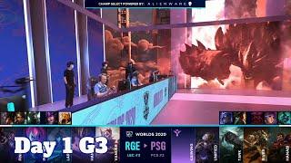 RGE vs PSG | Day 1 Group B S10 LoL Worlds 2020 | Rogue vs PSG Talon - Groups full game