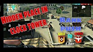 Clock tower hide place in freefire||Top 10 hide place in bermuda||Ranks push tips 2021||kly gamers