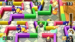 Mario Party 10 Series Maps - Rosalina vs Wario vs Daisy vs Waluigi (Mushroom Park) MARIO CRAZY