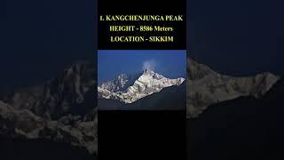 TOP 10 BIGGEST/TALLEST MOUNTAINS OF INDIA #mountains  #tallestmountains #information #viral #shorts