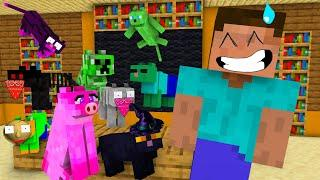 Monster School : Monsters Became Cats - Funny Minecraft Animation