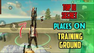 Top 10 Hiding Places on Training Ground Free Fire | After Update Hide/Secret Place on Training Mode