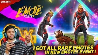 New Emote Party Event I Got Doggie Emote & New I'm Rich Emote & Dust off Emote At Garena Free Fire