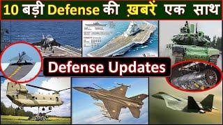 Top 10 | Top Defense updates | Naval Tejas, 6th gen engine, F21, Torpedo, Arjun tank, Apache