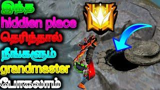 top 5 hidden place in ff for grandmaster pushing||how to go grandmaster easily tips&tricks|pppgamers