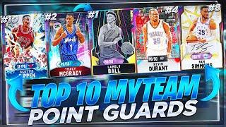 THE TOP 10 BEST POINT GUARDS IN NBA2K20 MYTEAM!! WHICH PGS ARE WORTH PICKING UP!?!?