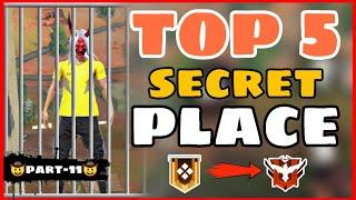 Top 5 Secret Place Free Fire || Part -11 Garena Free Fire -4G Gamers