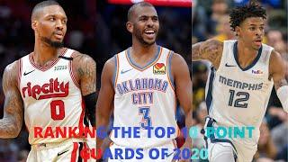 Top 10 Point Guards of the 2019-20 NBA Season!!