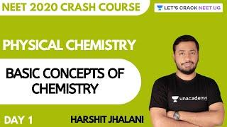 Basic Concepts of Chemistry | Crash Course for NEET 2020 | Day 1 | Chemistry | Harshit Jhalani