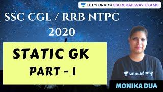 1:00 PM - Static GK (Part-1) | Target SSC CGL/RRB NTPC Exam | Monika Dua