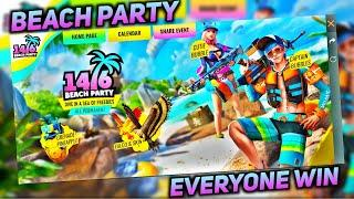 Beach Party Event Full Details | Everyone Win Reward | Summer Special | Free Fire Player