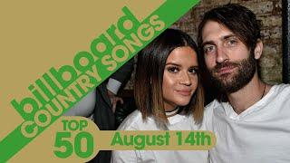 Billboard Country Songs Top 50 (August 14th, 2021)