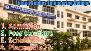 Expose Netaji Subhas Engineering college || 100% Honest Review|| Hostal,Fees structure,How to apply?
