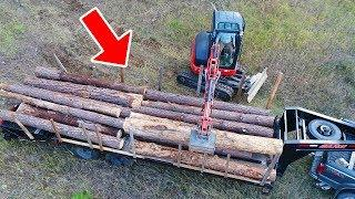 Logging Beetle Kill Trees With An Excavator