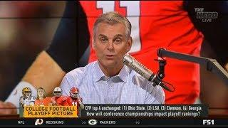 THE HERD | Colin Reaction CFP top 4 unchanged: #1 Ohio State, #2 LSU, #3 Clemson, #4 Georgia