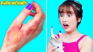 Girl DIY ! EMERGENCY LIFE HACKS & SURVIVAL HACKS FOR GIRLS / Smart Life Hacks EveryGirl Should Know