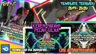 KUMPULAN TEMPLATE TOP 5 QUOTES AVEE PLAYER KEREN PARAH!! ||BARS||LINE ART|| PART 11