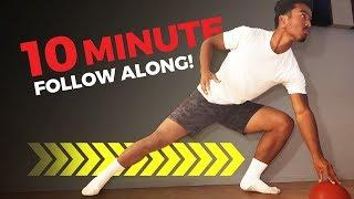 10 Minute Tennis Footwork Home Workout (FOLLOW ALONG!)