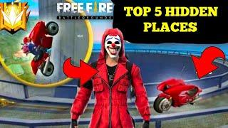 Free Fire || Best Top 5 Hidden Place Free Fire ||Free Fire Ranked Match Hidden Place Tips And Tricks