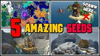 TOP 5 BEST NEW EPIC 1.16 SEEDS! Hermitcraft Seed! Impossible Spawn Seed! Super Elevated Shipwreck!
