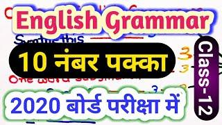 Class 12 English grammar synthesis synonyms one word substitution and syntax in one video||