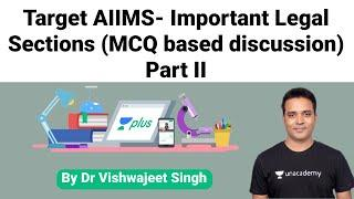 Target AIIMS- Important Legal Sections (MCQ Based Discussion) Part II by Dr Vishwajeet Singh