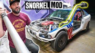 Our $350 BMW Gets a Snorkel Made From Spare Parts! E36 Safari Project Car Part 7/10