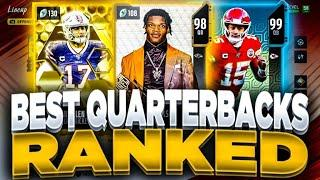 BEST QUARTERBACK CARDS YOU NEED!! | RANKING THE BEST QUARTERBACKS IN MADDEN 20 ULTIMATE TEAM!!