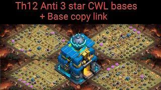 Top 10 Anti-3 star Th12 CWL bases April 2020 + Base Copy Link l Clash of Clans