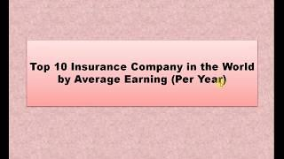 Top 10 insurance company in the world | Insurance Company by average earning