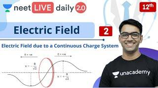 NEET Physics: Electric Field - L2 | Class 12 | Live Daily 2.0 | Unacademy NEET | Mahendra Sir