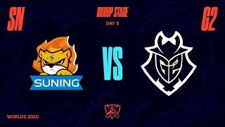 SN vs G2 - Tiebreaker | Worlds Group Stage Day 5 | Suning vs G2 Esports (2020)