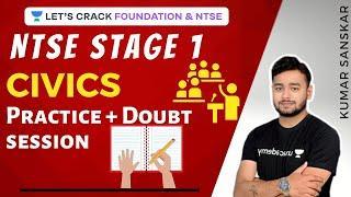 Practice + Doubt session   Civics   Class 10   NTSE Stage 1   Kumar Sanskar