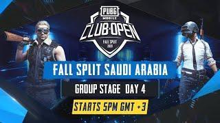 [AR] PMCO Saudi Arabia Group Stage Day 4 | Fall Split | PUBG MOBILE CLUB OPEN 2020
