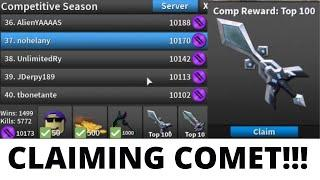 CLAIMING THE COMET KNIFE IN ASSASSIN COMP!! (ROBLOX) [TOP 100]