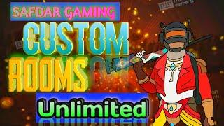 pubg mobile live pakistan - unlimited custom room and gameplay - LIVE WITH SAFDAR GAMING